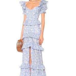 New Caroline Constas printed ruffled long dress